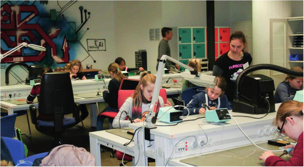 Der MakerSpace beim Girl's Day